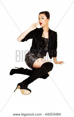 Classy Woman Sitting.