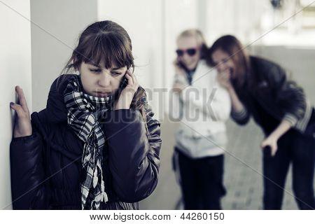 Teenage girl calling on the phone