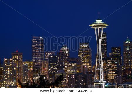 Classic View Of Seattle Skyline