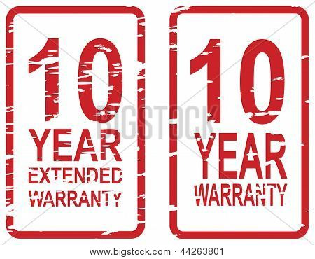 10 Year Warranty Stamps