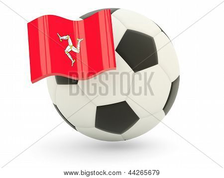 Football With Flag Of Isle Of Man