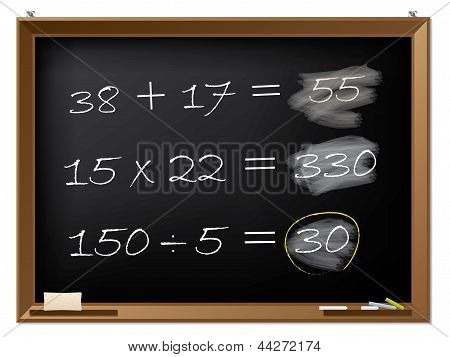 Blackboard With Math Excercises