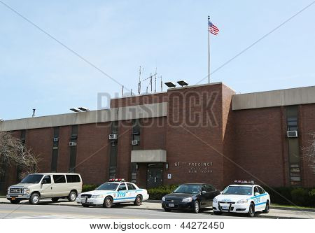 NYPD 61st Precinct  in Brooklyn , NY