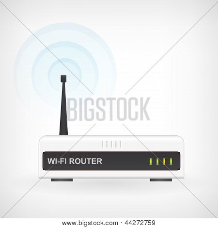 Wireless Wifi Router Modem Vector Icon