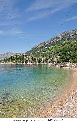 Beach of Brela,Makarska Riviera,Dalmatia,Croatia