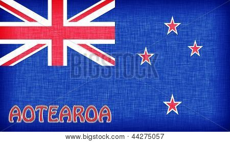 Linen Flag Of New Zealand