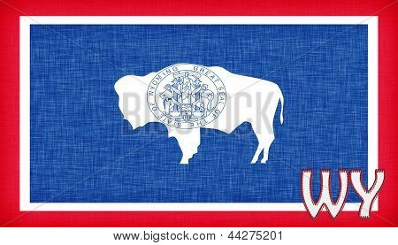 Linen Flag Of The Us State Of Wyoming