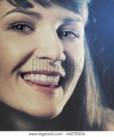 Funny Retro Styled Female Portrait
