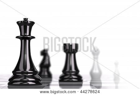 Chessboard Strategic Business Concept