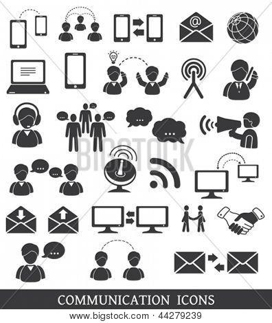 Set of communication icons.