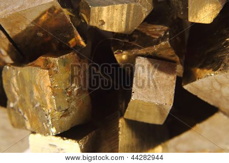 Golden Cubes Background