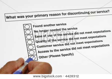 Survey For Discontinuing The Service