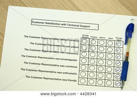 Customer Satisfaction With Technical Support