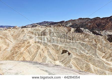 Death Valley Zabriskie Point nature landscape in Death Valley National Park, California, USA.