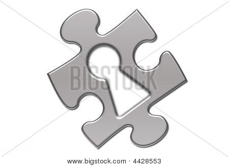 Isolated Puzzle With Keyhole