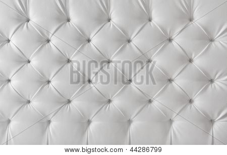 Leather Upholstery White Sofa Texture, Pattern Background