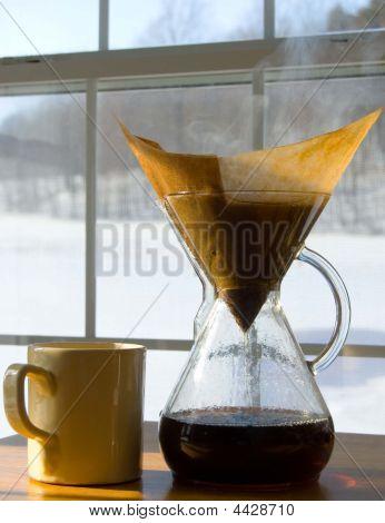 Café de la mañana fría