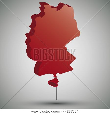 map of Germany in form of a balloon