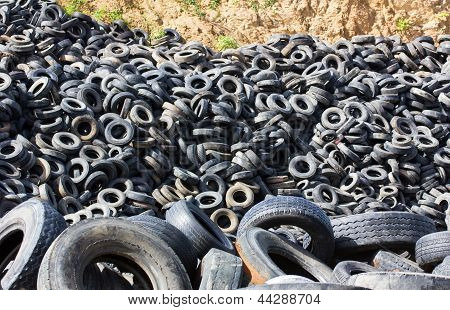 Heap Old Tires