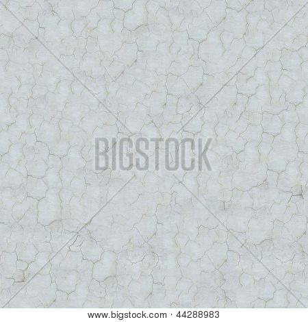 Seamless Texture of White Cracked Wall.