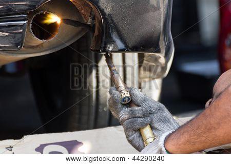 Repairing Exhaust Pipe