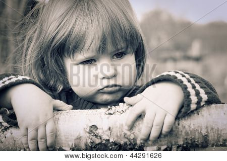 Distraught little girl