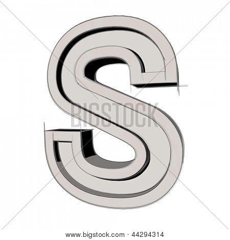 s alphabet 3d  Alphabet 3d 3d sketchy