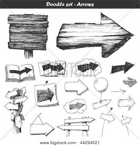 Doodle set: arrows