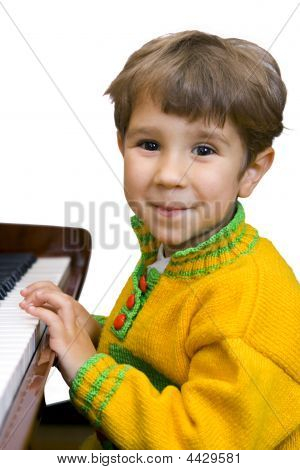 Boy And Piano