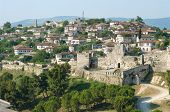 ruins of Citadel and Kalasa neighborhood in Berat, Albania