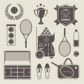 Vector tennis icons