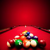 pic of pool ball  - Billards pool game - JPG