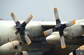stock photo of hercules  - close up of Propellers of C - JPG