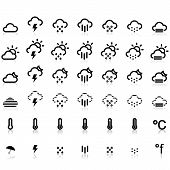 Weather Icons in White Background
