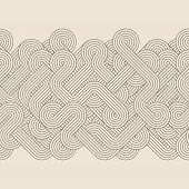 stock photo of twist  - Seamless abstract border with twisted lines - JPG