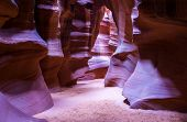 foto of quicksand  - Antelope Canyon is a slot canyon located on Navajo land near Page Arizona - JPG
