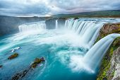 Godafoss is a very beautiful Icelandic waterfall. It is located on the North of the island not far f