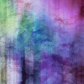 stock photo of dripping  - art abstract watercolor background on paper texture in light violet and pink colors - JPG