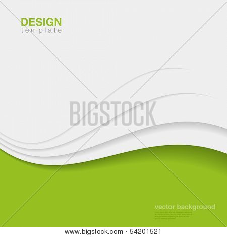 Business innovation vector design template.  Green eco style. Ecology Background abstract identity