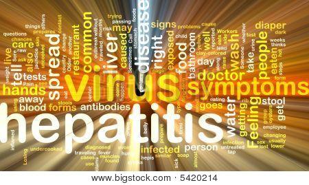 Hepatitis Word Cloud Glowing