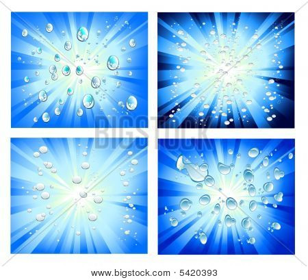 Abstract Light And Bubbles Background With High Contrast Colors
