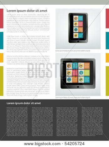 Infographics set elementsfor print or web. Vector design template.