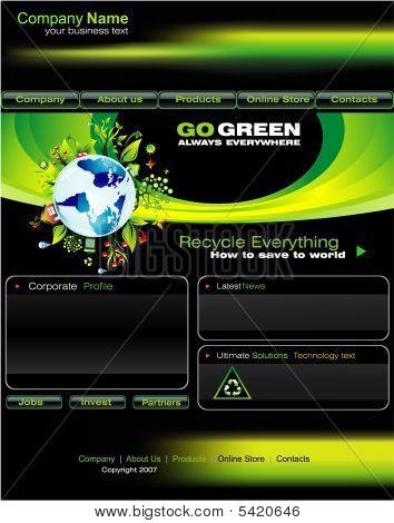 Green Business Website Template