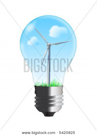 Windkraftanlage In Lampe