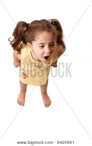 Little Girl Shouting,  Or Tantrum