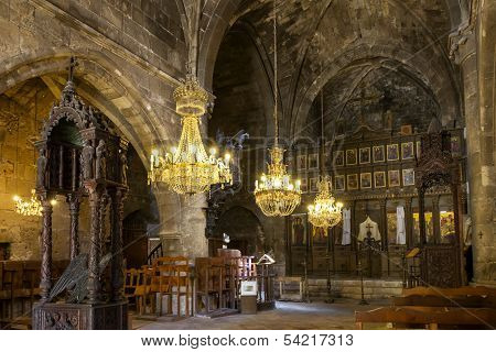 KYRENIA, NORTHERN CYPRUS - OCTOBER 12: Bellapais Abbey near Kyrenia in Northern Cyprus on October 12