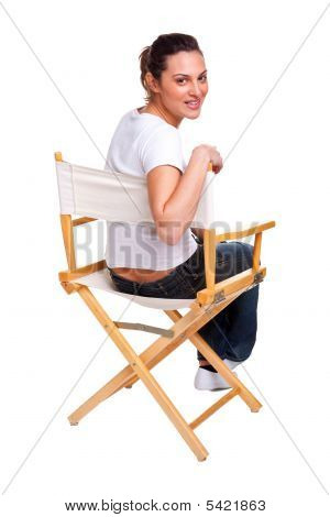 Model Sat In A Chair