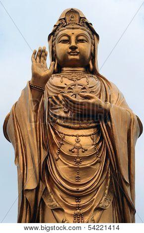 Statue Of Godness Guanyin In The Putuoshan Island
