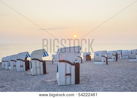 Beech Chairs During Sunrise
