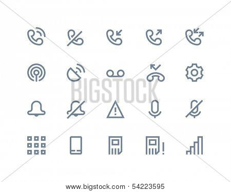 Call logs icons. Line series
